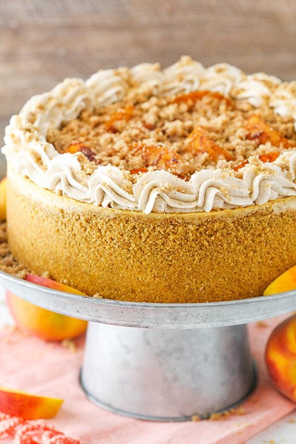 cheesecake ροδάκινο