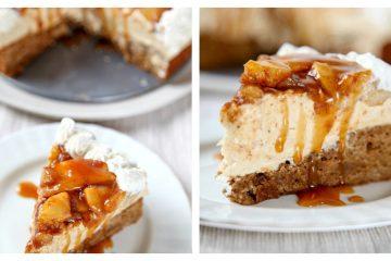 cheesecake με μήλα