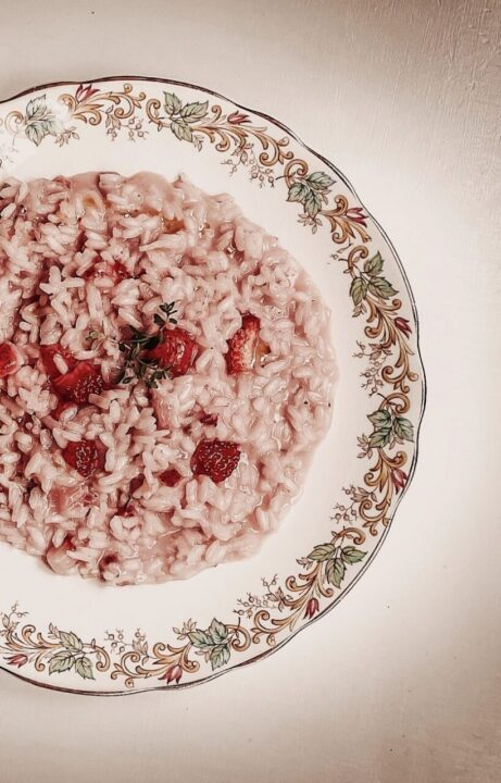 ριζότο με φράουλες